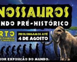 Dinossauros à escala real no Porto